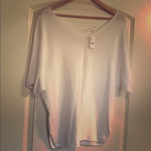 NWT Lou and Grey Loft White Knit Top